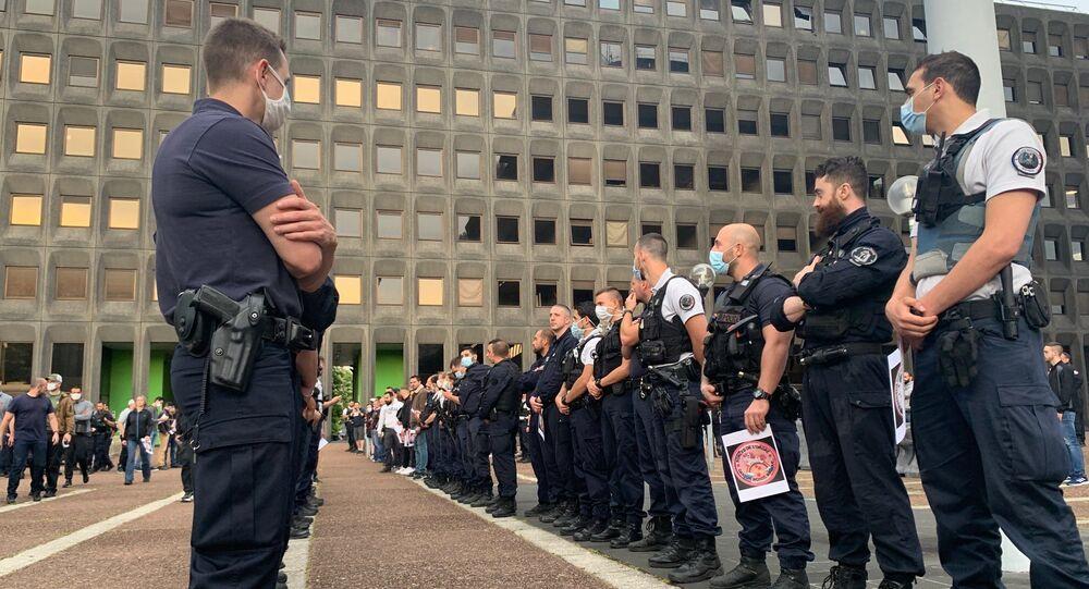 Action des policiers devant les commissariats, le 11 juin / image d'illustration