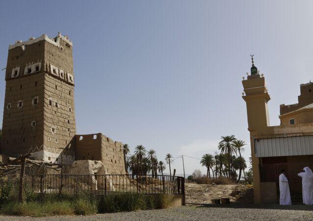 Mosquée à Najran, Arabie saoudite / image d'illustration