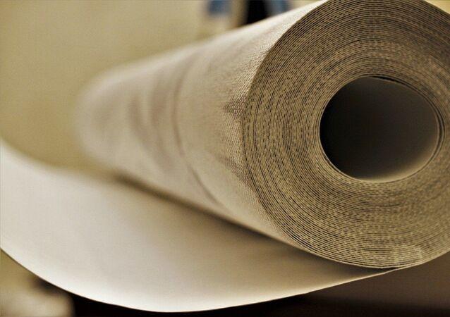 Un rouleau de tapisserie, image d'illustration