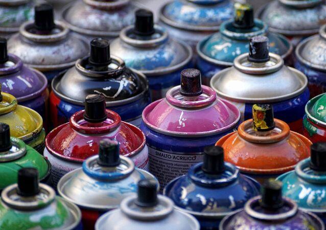 Bombes de peinture (image d'illustration)