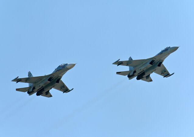 Des chasseurs Su-27 (photo d'archives)