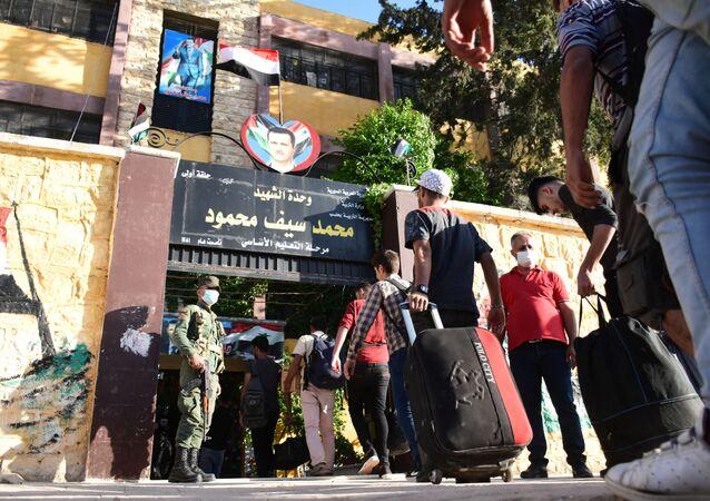 Абитуриенты в Алеппо