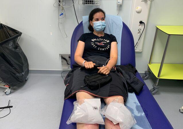 La journaliste Stéphanie Roy blessée par une grenade lors des débordements aux Invalides, 16 juin 2020
