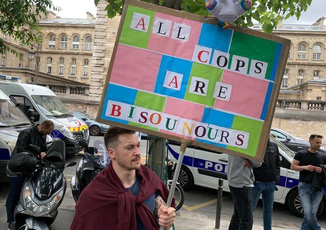 Manifestation des policiers à la préfecture de Paris, 17 juin 2020