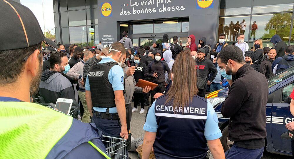 Un nouveau magasin Lidl àOrgeval (Yvelines), le 17 juin 2020