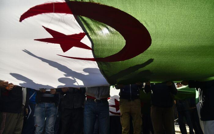 Le drapeau de l'Algérie
