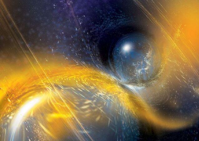Une étoile à neutrons. Vue d'artiste