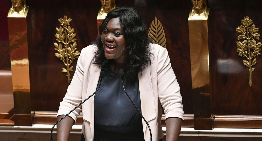 La députée Laetitia Avia, à l'Assemblée nationale.