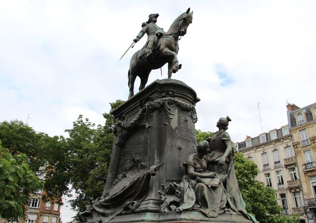 La statue équestre de Louis Faidherbe à Lille