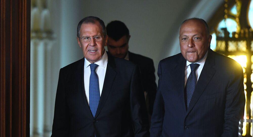 Sergueï Lavrov et Sameh Choukri (photo d'archives)