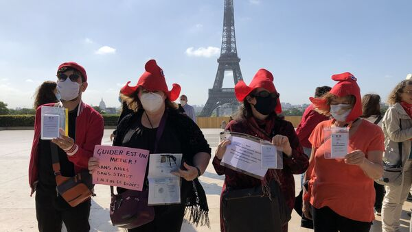 Les guides-conférenciers ont organisé une action de protestation sur douze sites emblématiques en France - Sputnik France