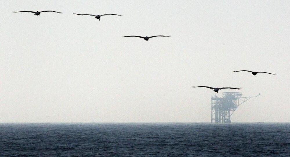 Plate-forme pétrolière dans le golfe du Mexique (image d'illustration)