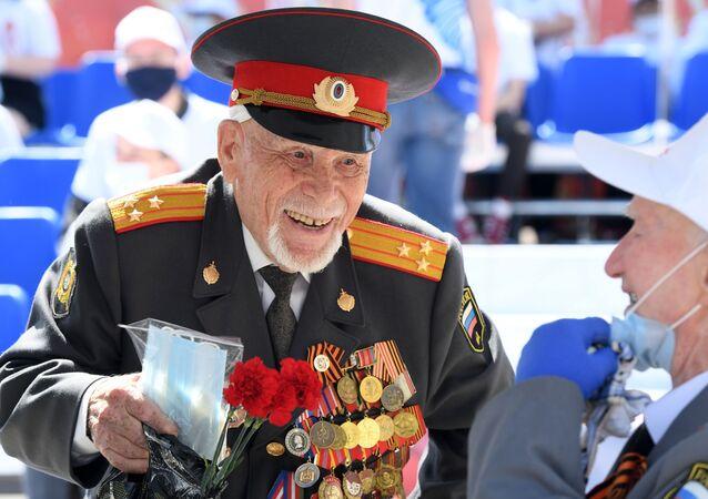 Un vétéran lors de la parade militaire dédiée au 75e anniversaire de la Victoire sur le nazisme à Moscou (image d'illustration)