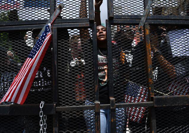 une manifestation Black Lives Matter