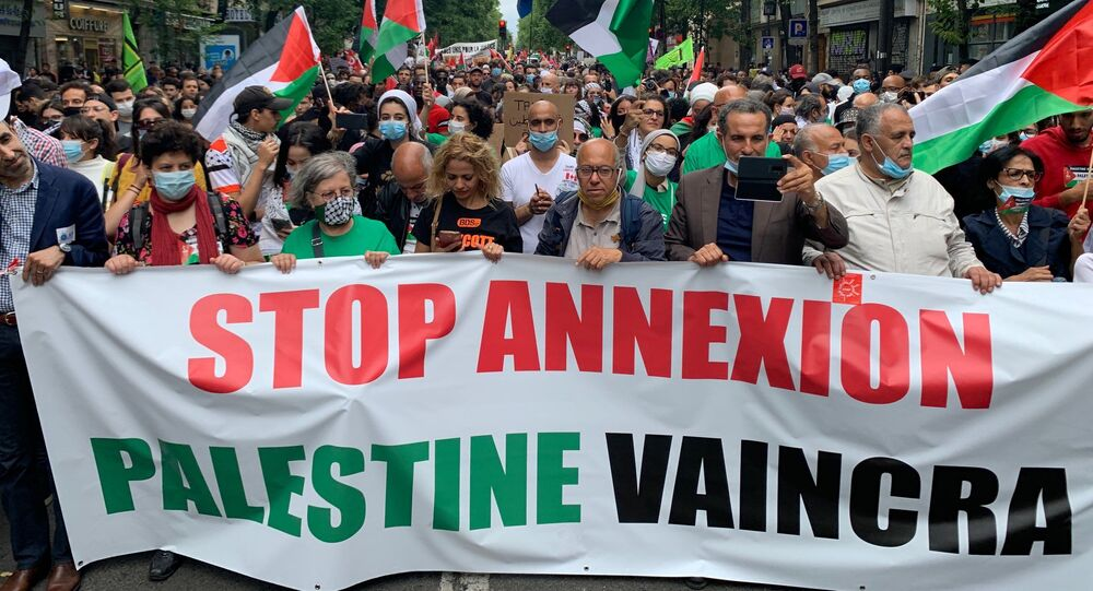 Manifestation en soutien de la Palestine à Paris, 27 juin 2020