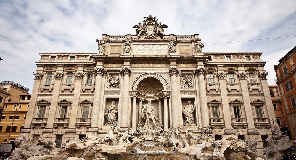 Rome, la fontaine de Trevi