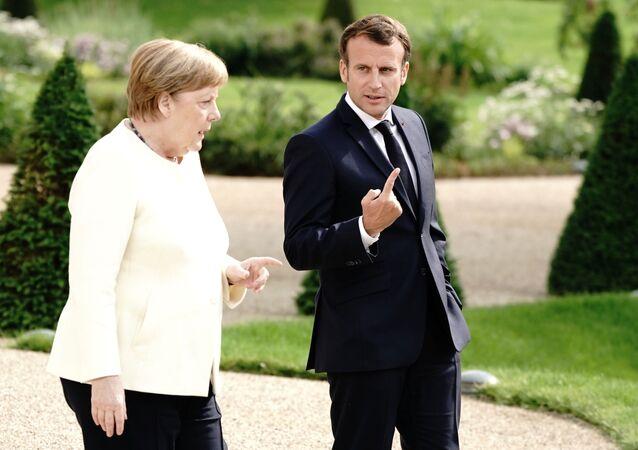 Macron et Merkel en Allemagne