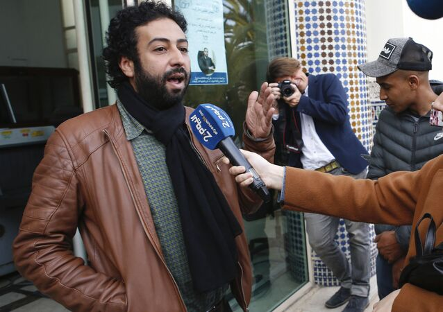 Le journaliste Omar Radi, après son audition au tribunal de Casablanca le 5 mars 2020
