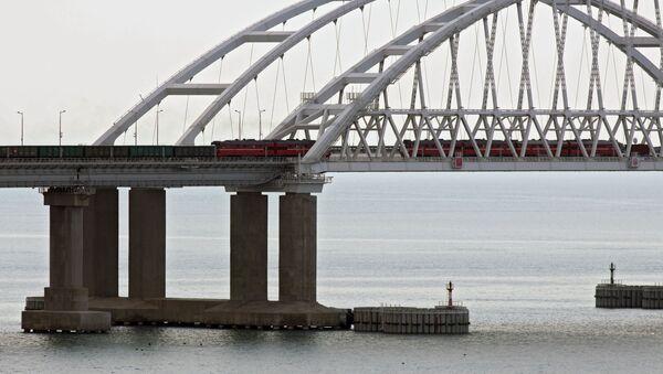 Des trains de fret traversent le pont de Crimée, le 30 juin 2020 - Sputnik France