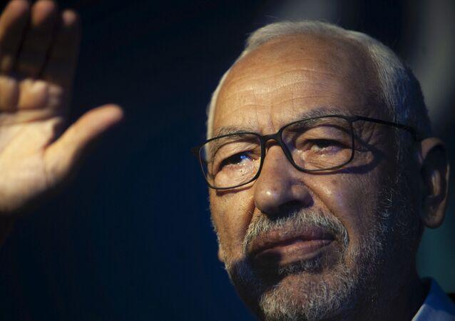 Rached Ghannouchi, président du parti islamiste tunisien Ennahda