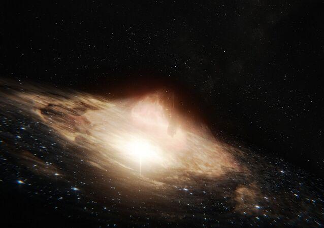 Quasar, vue d'artiste