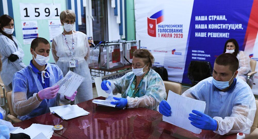 Le dépouillement des votes sur les amendements à la Constitution en Russie