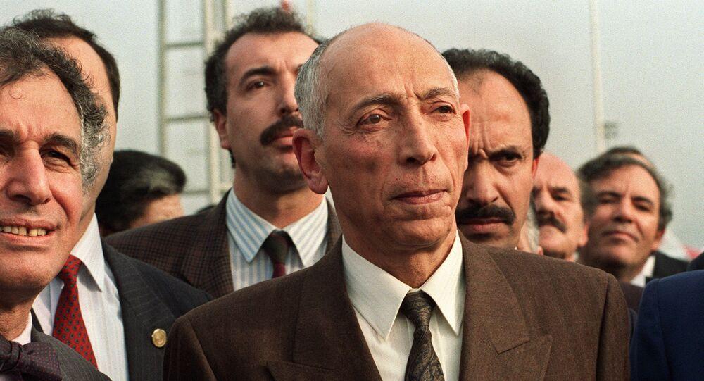 Le Président du Haut conseil d'État algérien Mohamed Boudiaf, le 16 janvier 1992.