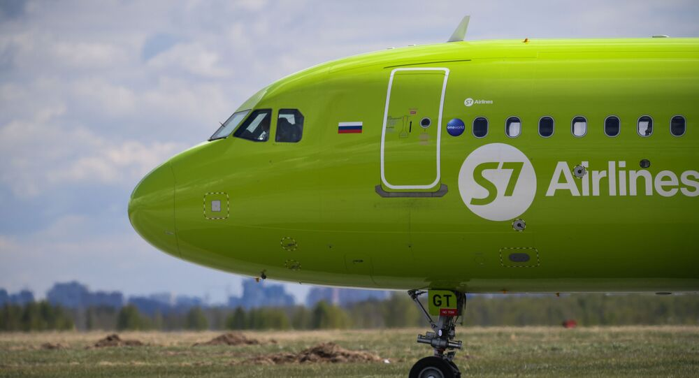 un Airbus de la compagnie S7 Airlines, image d'illustration