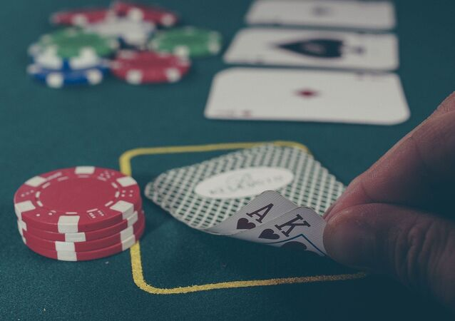 Cartes blackjack casino, image d'illustration
