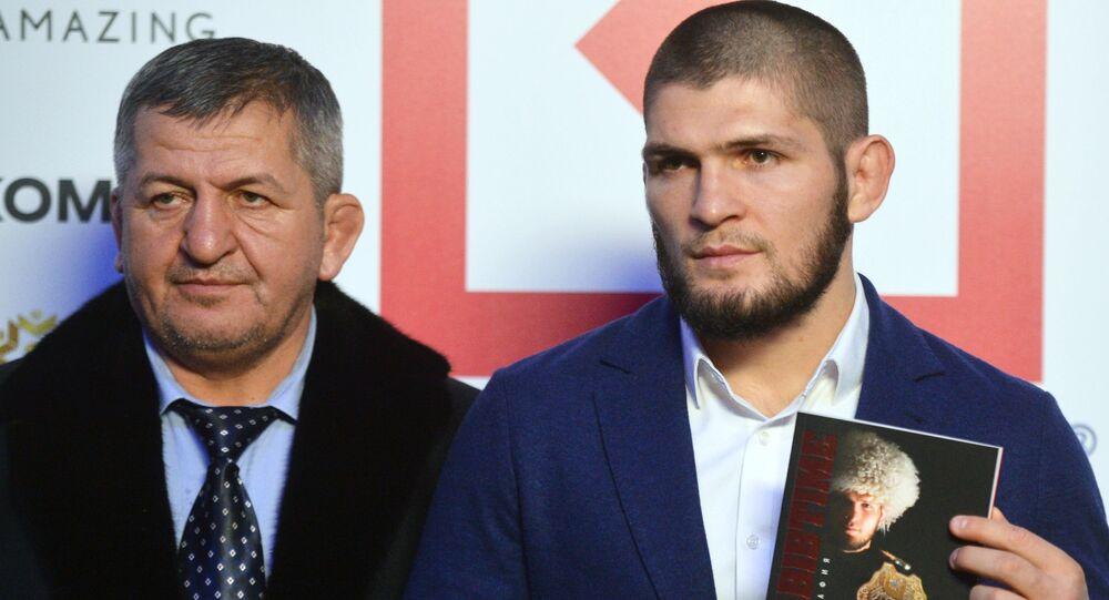 Khabib Nourmagomedov et son père, Abdulmanap (archive photo)