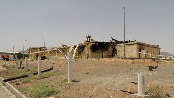 Le bâtiment endommagé par un incendie au site nucléaire iranien de Natanz - Sputnik France