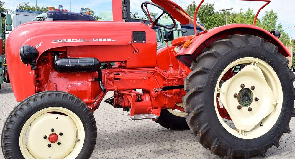 Un tracteur Porsche (image d'illustration)
