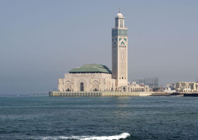 La mosquée Hassan II à Casablanca, Maroc.
