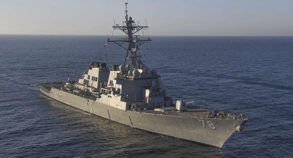 Le destroyer américain doté de missiles guidés USS Porter en 2017 / image d'illustration
