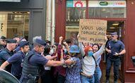 Manifestation militantes féministes contre le gouvernement Castex