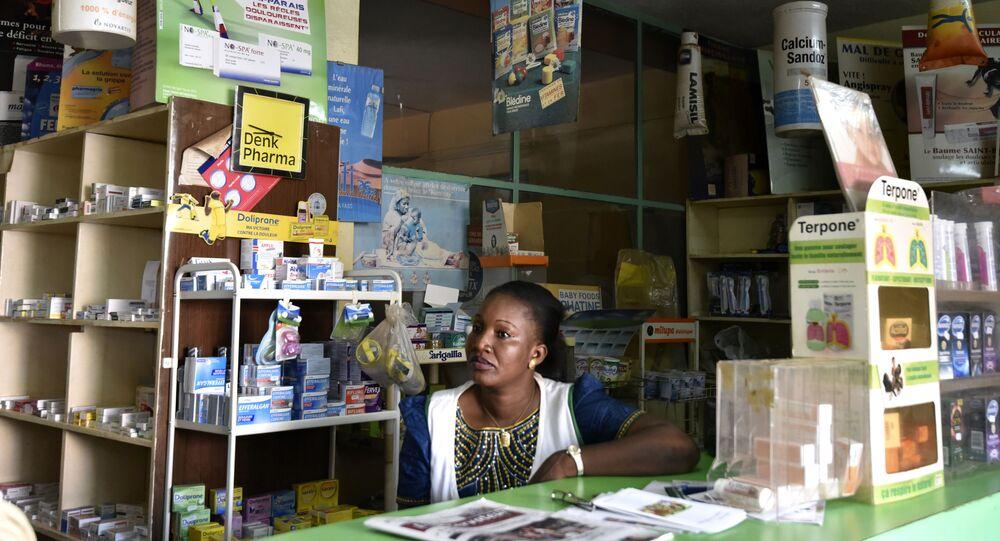 Une pharmacie à Ouagadougou, Burkina Faso