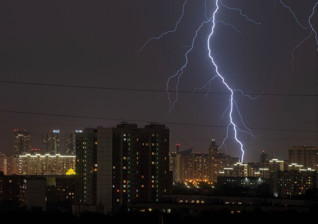 Orage à Moscou le 7 juillet 2020