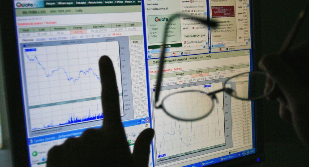 Un graphique de l'état du marché financier