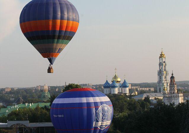 Des ballons dans les environs de Moscou