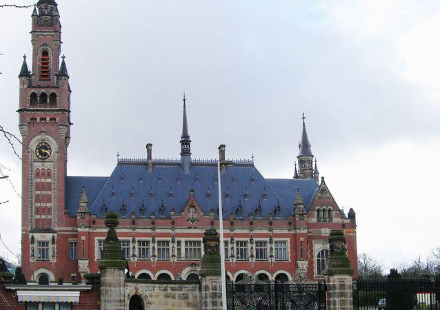 Le Bâtiment de la Cour internationale de justice, la Haye