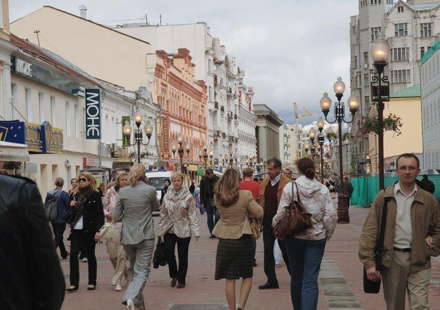 Dans une rue de Moscou