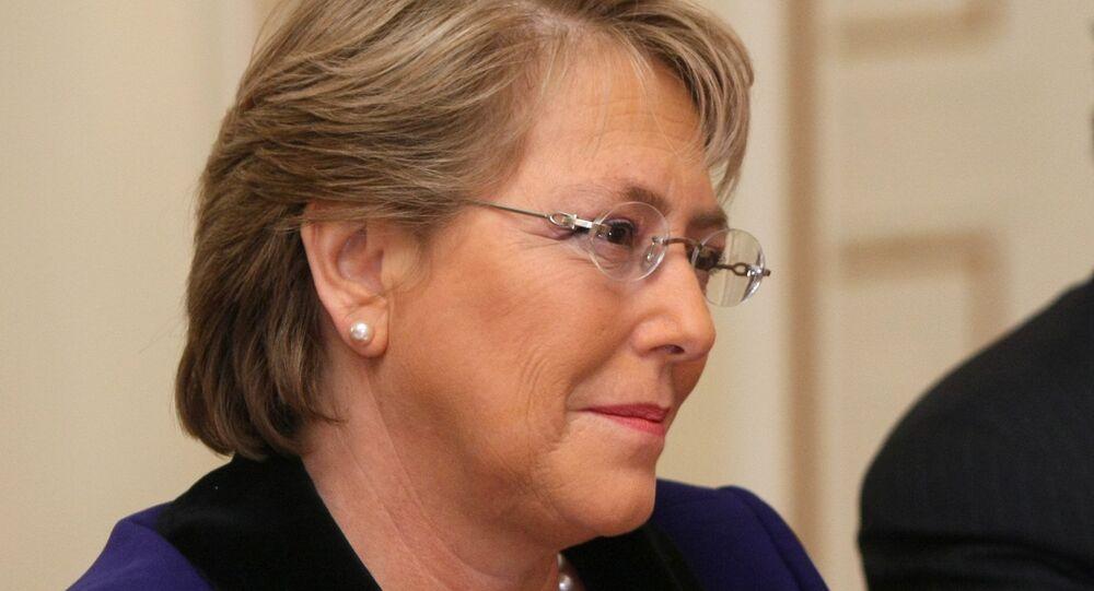Présidente chilienne Michelle Bachelet