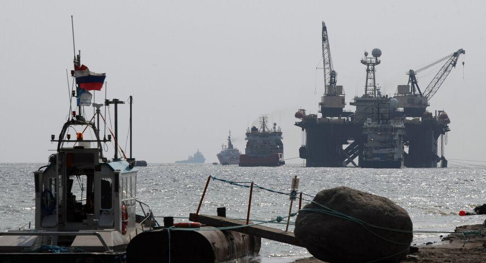 Chantier de la seconde conduite du Nord Stream en mer Baltique (archives)