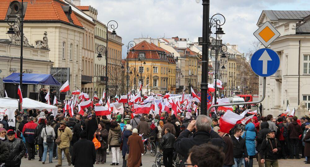 Manifestation à Varsovie