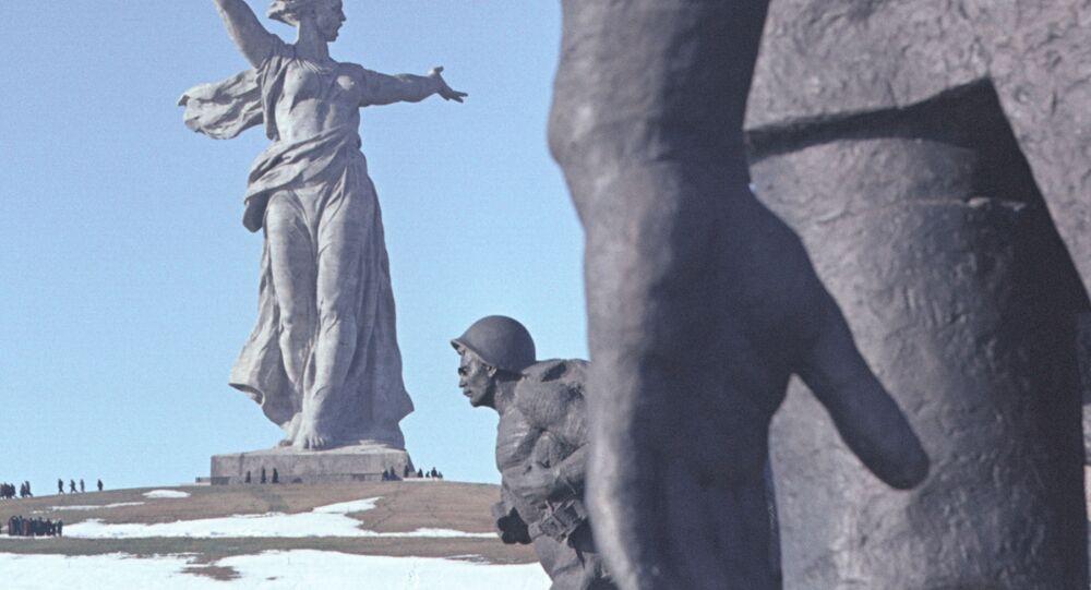 Monument aux héros de la bataille de Stalingrad à Volgograd