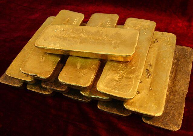 Les lingots de l'or
