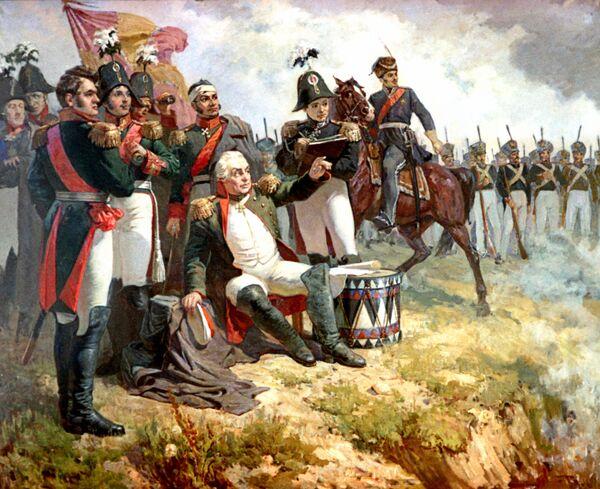Le général Koutouzov lors de la bataille de Borodino de 1812 par A.Chepeliouk - Sputnik France