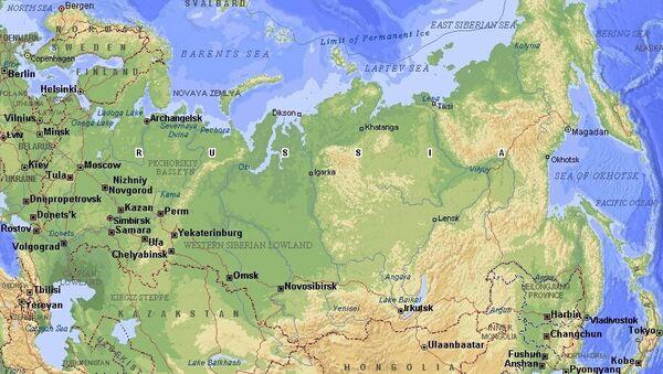 Carte de la Russie - Sputnik France