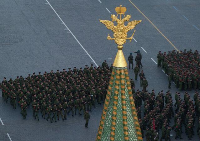 Répétition du défilé de la Victoire sur la place Rouge de Moscou