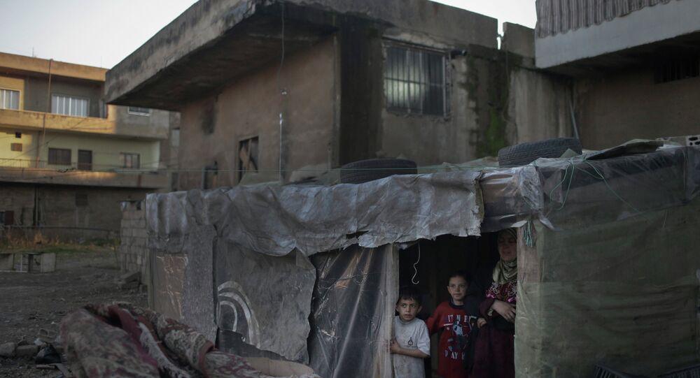 Réfugiés syriens dans la plaine de la Bekaa au Liban